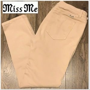 Miss Me mid-rise skinny sand colored jeans EUC
